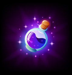 Bottle magic potion icon for graphic user vector