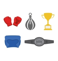 Boxing sport icon set vector