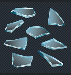 broken glass crash space shatter transparent vector image