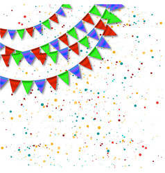 bunting and garlands for birthday card vector image