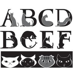 Cat font vector