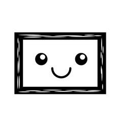 Chalkboard school kawaii character vector