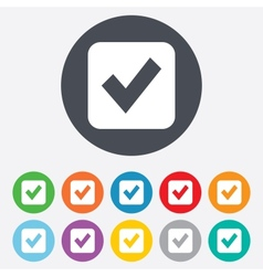 Check mark sign icon Checkbox button vector