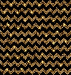 Chevron gold glow background with stars vector
