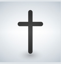 christian cross icon minimalistic black christian vector image