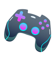 Color gamepad flat joystick modern design vector