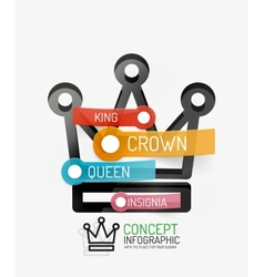 crown infographics line style and keys vector image