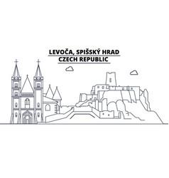 Czech republic - levoca spissky hrad travel vector