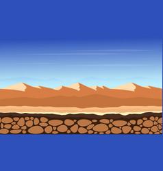 Desert game background landscape vector