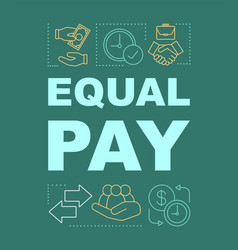 Equal pay word concepts banner vector
