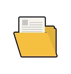 Folder file document info icon graphic vector