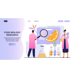 Food biology research in laboratory vector