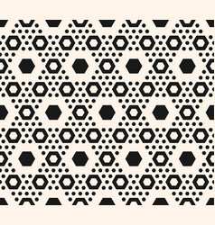 geometric pattern hexagons in hexagonal grid vector image