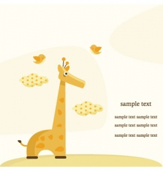 Giraffe background vector
