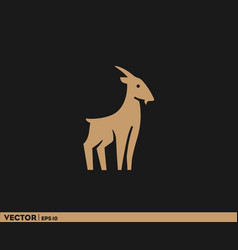 goat with short horn vector image