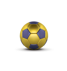 gold blue soccer ball on white background vector image