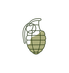 hand grenade bomb icon 23 february holiday vector image