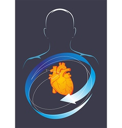 Health of their hart vector