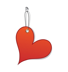 Heart love tag as valentine day symbol vector image
