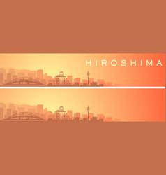 Hiroshima beautiful skyline scenery banner vector