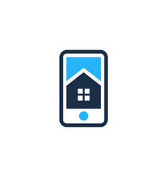 home mobile logo icon design vector image
