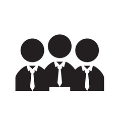 isolated businessmen silhouettes vector image