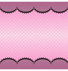 Lace pattern background vector image