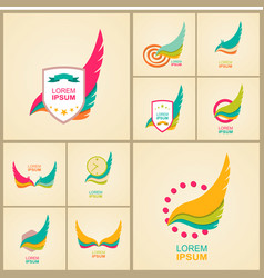 Logo element and abstract web icon globe symbol vector