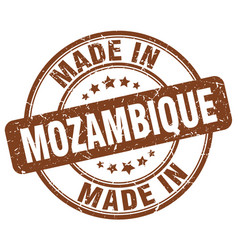 Made in mozambique brown grunge round stamp vector