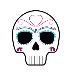 mexican skull icon vector image