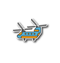 military helicopter patch vector image