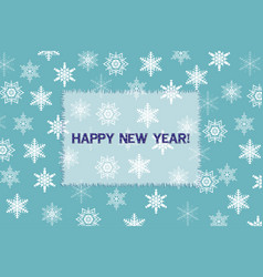 new year and christmas greeting card vector image
