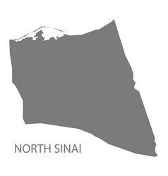 North sinai egypt map grey vector