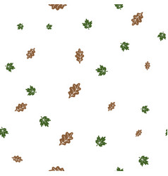 oak and maple leaf pattern seamless vector image