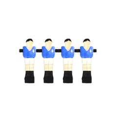 Old fashioned foosball players Watercolor object vector image