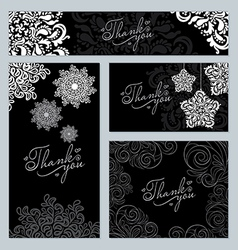 Ornament and snowflake pattern vector