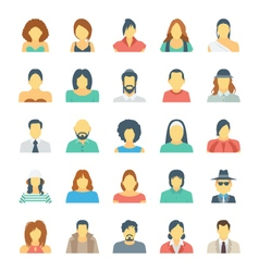 People Avatars Colored Icons 4 vector image