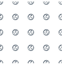 Planet icon pattern seamless white background vector