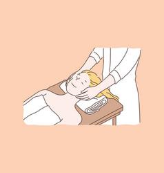 professional spa salon beauty services concept vector image