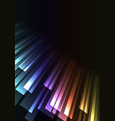 rainbow overlap stripe rush in dark background vector image