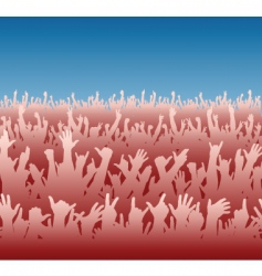 red crowd vector image
