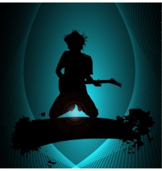 rock musician poster vector image