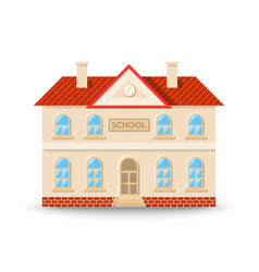 school building in flat cartoon style isolated vector image