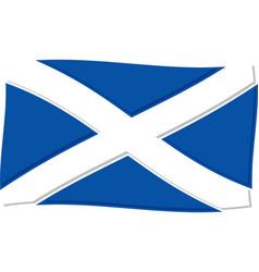 scottish flag graphic vector image