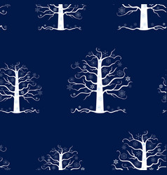 seamless pattern of decorative frozen trees vector image