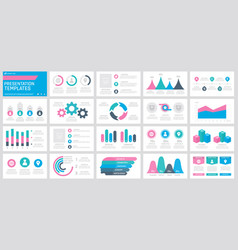 Set pink turquoise blue and dark grey vector