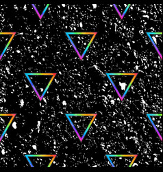 space spectrum triangles with grunge effect vector image