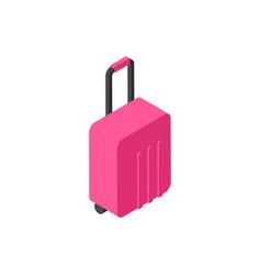 Suitcase icon isometric luggage isolated travel vector