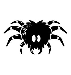 Tarantula icon simple black style vector
