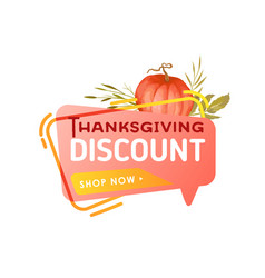 thanksgiving sale banner template special offer vector image